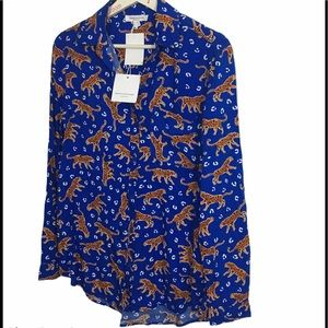 Beach shirt summer tigers blue orange